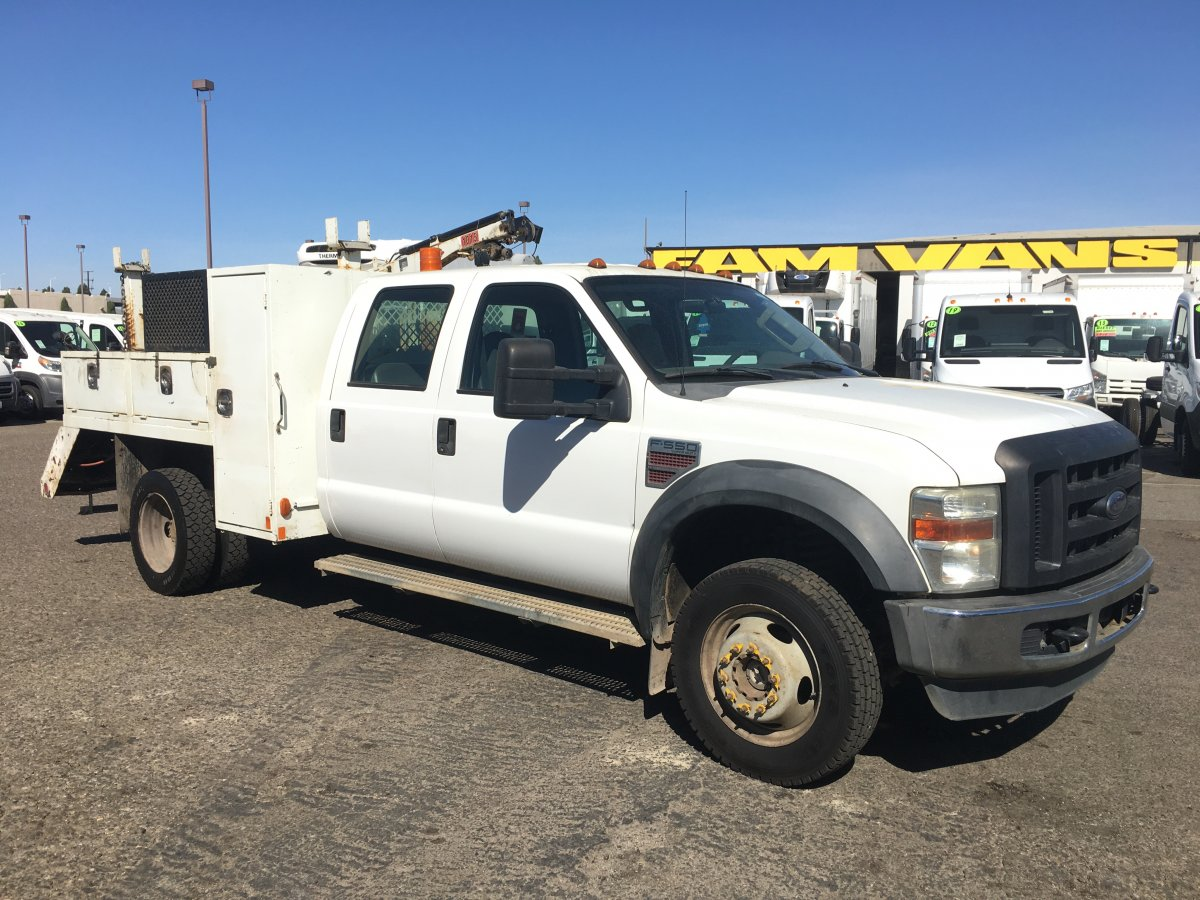 Used 2009 Ford F-550 Crance Utility Truck DIESEL in Fountain Valley, CA
