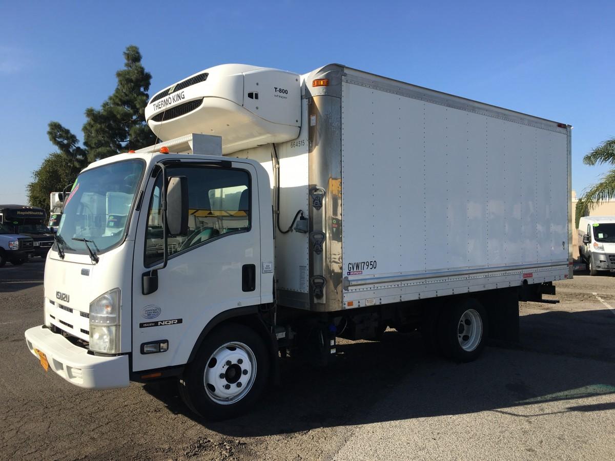 2012 Isuzu NQR 12FT Refrigeration Reefer Box Truck with Side Door DIESEL in Fountain Valley, CA