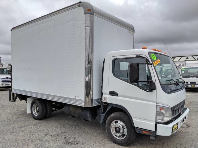 Used 2007 Mitsubishi Fuso FE140 14FT Box Truck with Liftgate DIESEL in Fountain Valley, CA