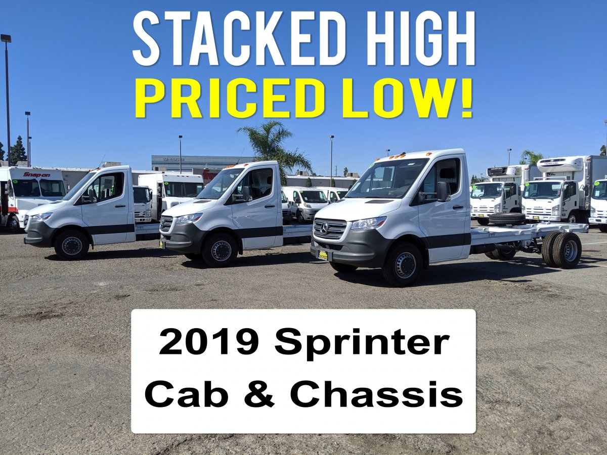 2019 Mercedes-Benz Sprinter Cab and Chassis in Fountain Valley, CA