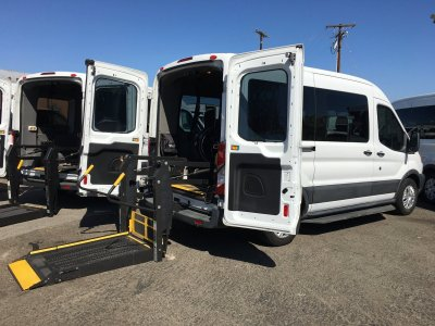 2018 Ford Transit-150 Mid Roof Handicap Van with Wheelchair Lift in Fountain Valley, CA