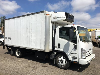 2012 Isuzu NQR 16FT Refrigeration Reefer Box Truck w/ Liftgate DIESEL in Fountain Valley, CA