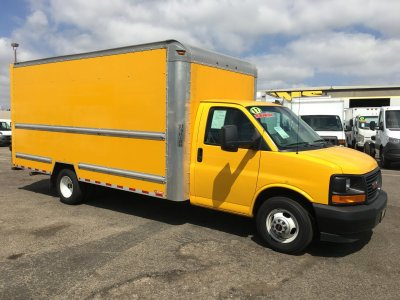 2017 GMC Savana 3500 16ft Box Truck SD with Loading Ramp