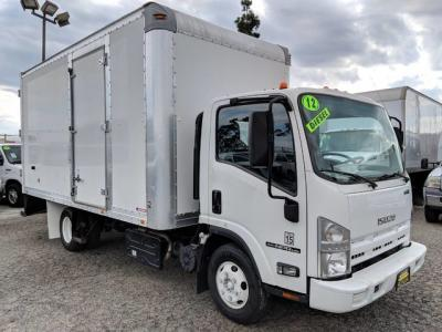 2012 Isuzu NPR HD 16ft Box Truck with Side Door Access DIESEL
