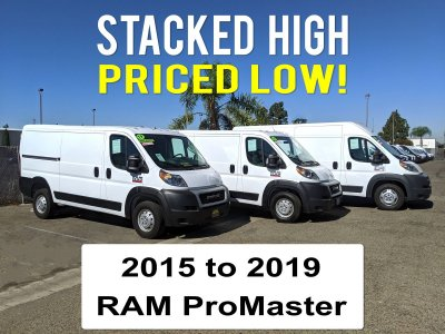 RAM ProMaster Cargo Vans in Fountain Valley, CA