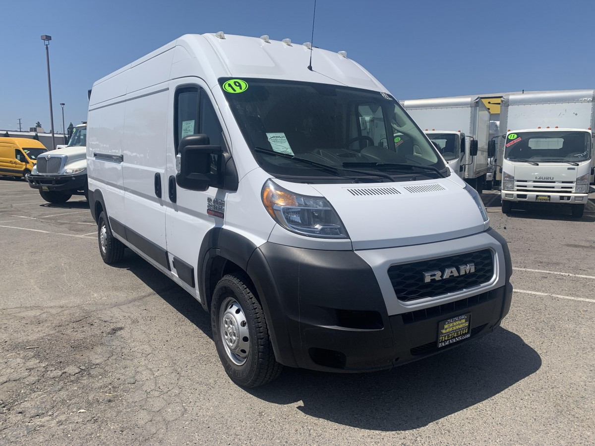 Used 2019 Ram ProMaster 2500 Extended High Roof Cargo Van Three-Seater in Fountain Valley, CA