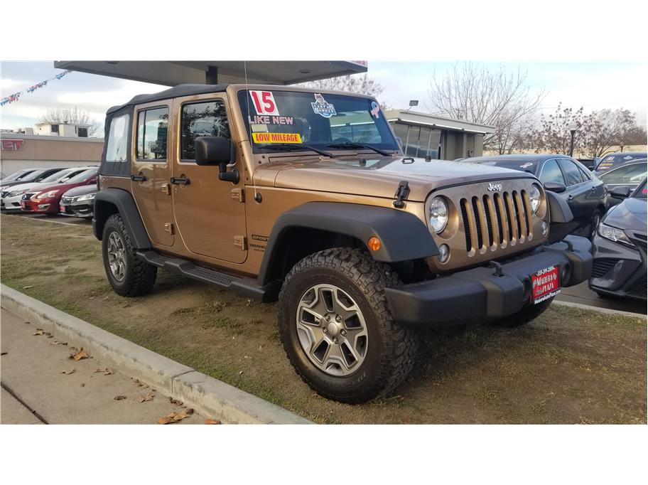 Used 2015 Jeep Wrangler Unlimited Sport SUV 4D in Madera, CA