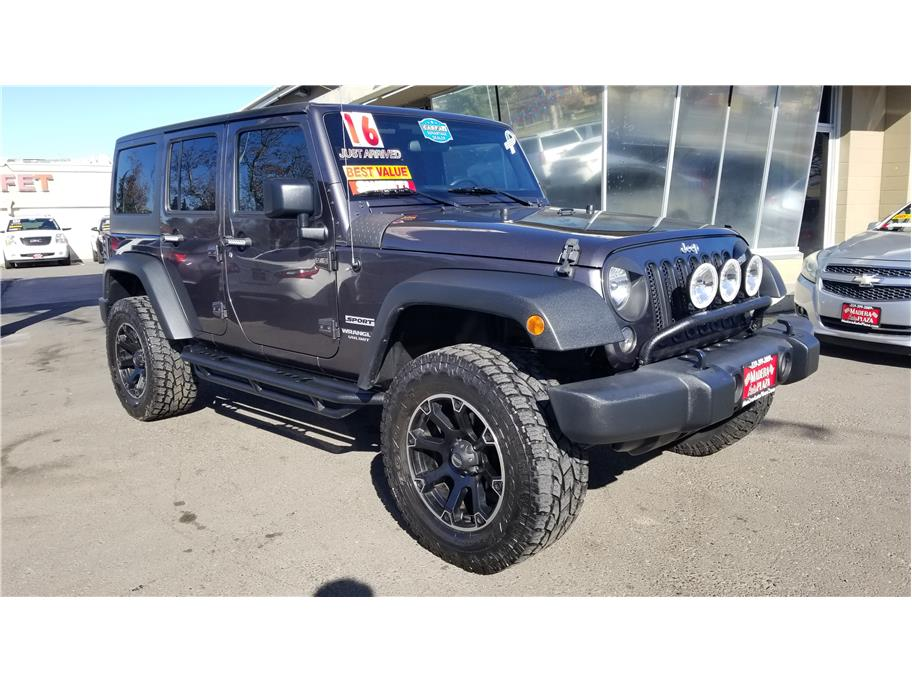 Used 2016 Jeep Wrangler Unlimited Sport S Sport Utility 4D in Madera, CA