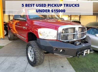 Best Used Trucks >> 5 Best Used Pickup Trucks Under 15000